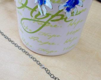 Vintage Enamel Fish Earrings Necklace, Sterling Silver Earrings, Beaded Jewelry, Handmade Jewelry, Vintage Beads, Jewelry Set