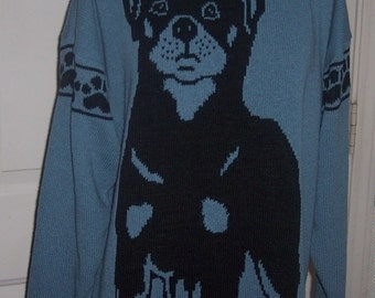 Custom Knit Rottweiler Sweater ****Create your own sweater see below*****