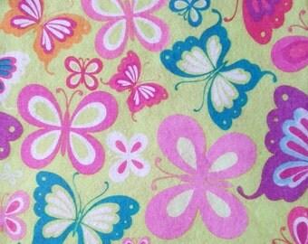 """Printed Felt Rectangle: Butterflies (9""""x12"""")"""