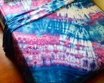 Hand Dyed Retro Queen Sized Sheet Set - Tie Dye bedding - One Of A Kind