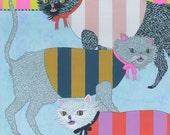 Hissy Fit - Original Cat Art Painting