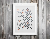 modern cross stitch pattern ++ geometric retro diamond mosaic ++ pdf INsTAnT DOwNLoAD ++ diy hipster ++ handmade design