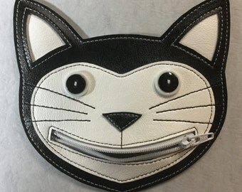 Tuxedo  Happy  Cat  - Coin Purse, Cat lover gift, Cat change purse, Cat Coin Purse
