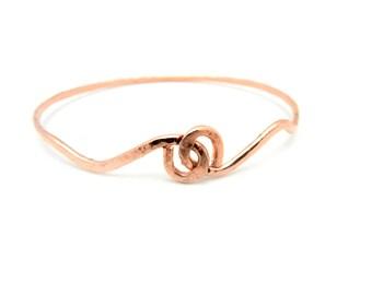Copper Bangle Bracelet, Hammered Copper Bangle, Minimalist Jewelry, Unisex Jewelry, Copper Jewelry, Unisex Bracelet, Made by Durango Rose