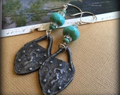 The Castle Door Czech Glass, Inviciti Pewter and Swarovski Crystal Earrings