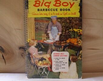 1957  Vintage BIG Boy Barbecue Book, Cookbook for Men