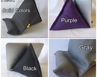 iPad / Kindle Lap Pillow Stand Bean Bag Stand : Solid Colors