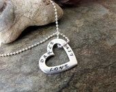 Sterling Silver Heart Dance Love Live charm  beaded chain necklace charm 4