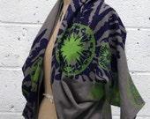 HEMP Wrap Shrug Sweatshirt Silkscreened Textile