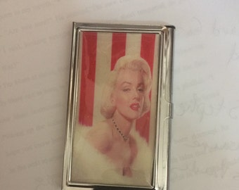 Retro Red Hot Marilyn Monroe Business Card Holder Credit Card Case