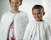 "Knitting Patterns Capes Lace Fuzzy Stylecraft 4897 DK Weight Yarn Sizes 22/24 26/28 30/32 "" 56 - 81 cm Children Paper Original NOT a PDF"