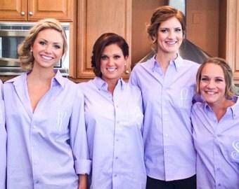 Monogram Bridesmaid Shirts - Set of Monogrammed Shirts - Bridal Party Shirts - Custom Bridesmaid Shirts - Personalized Bridesmaid Shirts