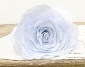 4th Anniversary Linen Whisper Blue Flower Gift for Wife Everlasting Flower Arrangement- Made to Order