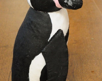 Pepe - handmade ooak soft sculpture model penguin, by BigFeetBears, 9.5 inches