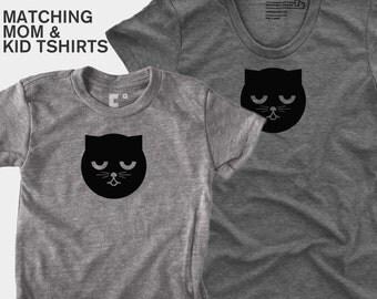 Sleepy Watson the Cat - Matching Shirts (Women & Kid)