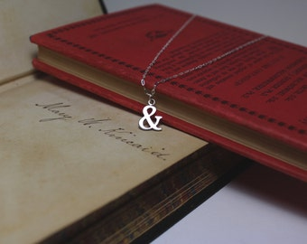 Ampersand Small Silver Silhouette Necklace