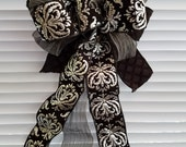 Designer Home Decor Bow black and silver