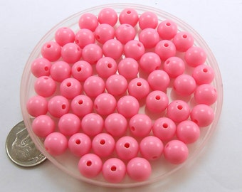 100 Light Pink Beads acrylic 8mm (H1969)