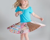 Twirl Dress Pattern for Girls - Knit and Woven Dress Pattern - Tee Dress Pattern - includes skirt and top patterns