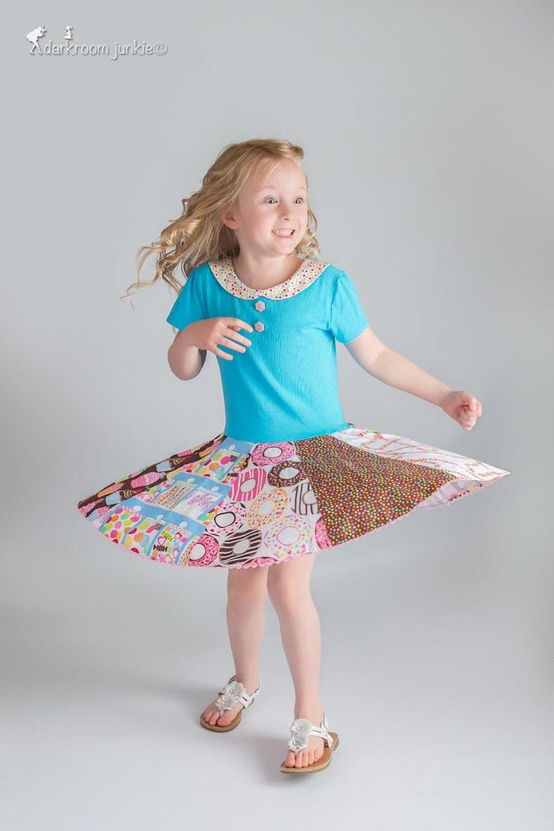 Twirl Dress Pattern For Girls Knit And Woven Dress Pattern