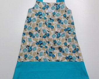 Vintage Fabric Handmade Dress - Size 5