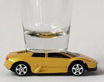 Hot Wheels, Classic Hot Rods, Shot Glass,Lamborghini Murciaiago, Maisto car