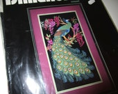 Dimensions Crewel Peacock Kit - Elegant Peacock - New in Package - 1992 #1404