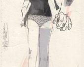Of Polkadots & Bunched-Up Socks (original Daily Drawing #56, 2016)