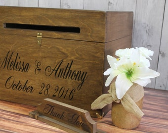 Extra Large Wooden Card Box - Rustic Wedding Card Box - Rustic Wedding Decor - Wishing Well - Shabby Chic Card Box - Wedding Card Box