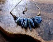 Raw Kyanite Necklace with Gold Filled Chain
