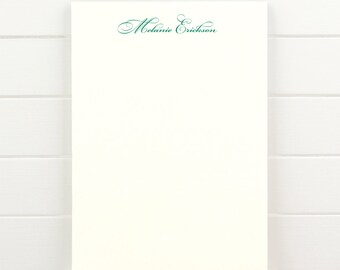 FORTUNE Personalized Notepad - Formal Traditional Classic Custom Letterhead