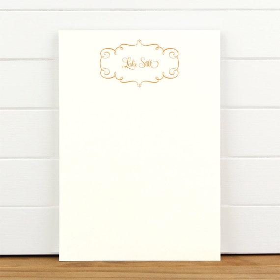 TWIRL Personalized Notepad - Pretty Delicate Letterhead
