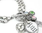 Birthstone Jewelry - Mother's Birthstone Bracelet - Mother's Bracelet - Children's Birthstone Bracelet - Childrens Names
