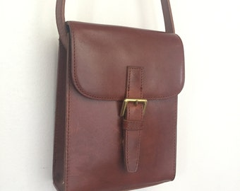 Annie - Vintage Leather Buckle Front Purse by G.H. Bass & Co.