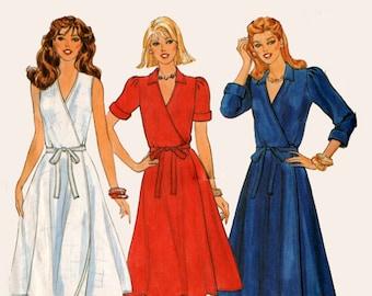 1970s Wrap Dress Pattern Butterick 4261 70s Vintage Sewing Pattern Size 14 Bust 36 UNCUT