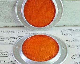 Pair of Vintage NOS Do-Ray Orange Reflectors