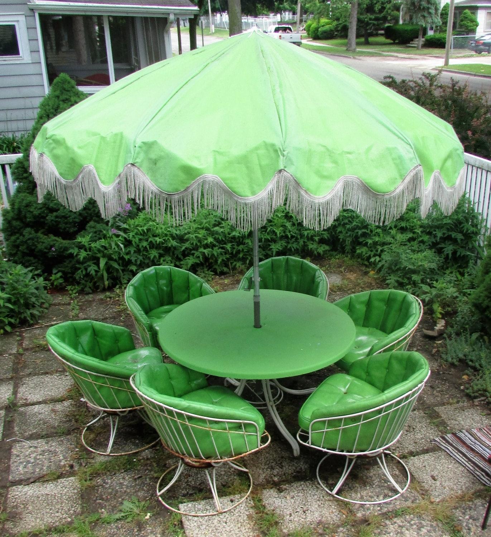 Mid Century Outdoor Furniture: Vintage Mid Century Patio Furniture 6 Piece Set Homecrest Wire