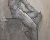 Reuben, Original Male Nude Figure Painting