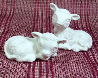 Unpainted Ceramics | Ceramic Bisque | Cow Statues | Paintable Ceramics | Ceramics to Paint | Animal Figurines |  Bisqueware | Bisque Ware