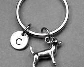 Chihuahua keychain, dog keychain, chihuahua charm, animal keychain, personalized keychain, initial keychain, initial, customized keychain
