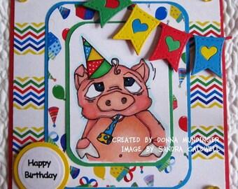 451 Piggy the Party Animal Digi Stamp