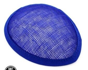 1 - Royal Blue - Teardrop Hat Base - Hat Form - Hat Foundation -  Sinamay Straw - Fascinator - Millinery
