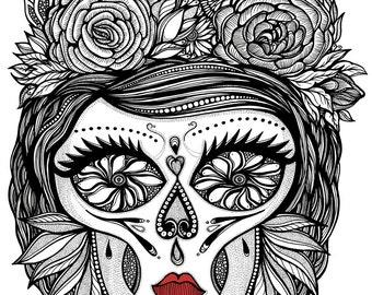 MISS CALAVERA Art Print 11x14