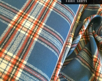 Flannel Fabric, Mammoth Plaid Flannel, Buffalo Plaid, Red and Blue Flannel, Lumberjack Chic, by Robert Kaufman, Mammoth Flannel Americana