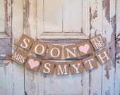 Engagement banner,Wedding banner, Soon to be banner, Bridal Shower banner,bridal shower decor, soon to be banners, bridal shower decorations