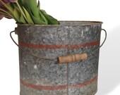 Vintage Galvanized Bucket Falls City Bait Bucket Angler's Choice Minnow Pail