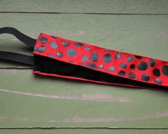 Red Spotted No-Slip Headband