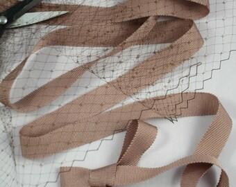 Grosgrain Ribbon Mocha Brown Rayon 5/8 X 1 yard