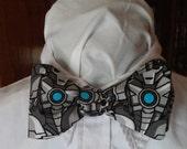 Doctor Who Inspired Reversible Cybermen Bow Tie