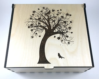 Tree of Life Essential Oil Box, Medium Box, Aromatherapy Storage Box, Essential Oil Case, Aromatherapy Oil Organizer, Oil Display